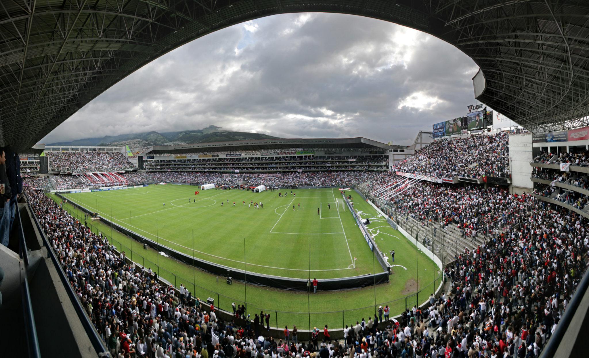 La Casa Blanca, el estadio de Liga de Quito. Uno de los estadios más grandes de Ecuador.