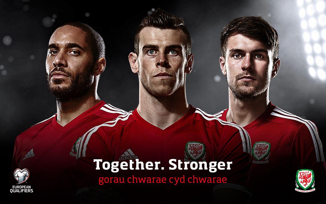 """""""Juntos, más fuertes"""" el eslogan galés. Fuente:"""