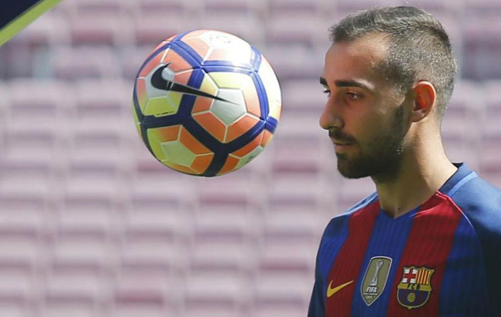 Moment, gehen nicht sehr gut Dinge Alcacer in Barcelona. Foto: Marca.com