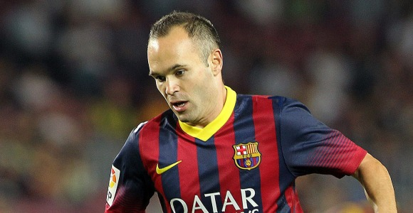 Seeing his image few would say that Iniesta is a star of today's football media coverage.
