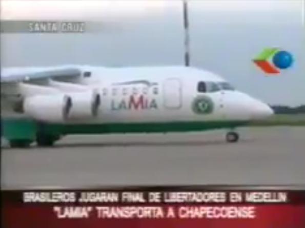 Un canal de Bolivia entrevistó al piloto del avión del Chapecoense poco antes del despegue