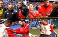"Mateu Lahoz the ""bundled"" with the Red Cross in Riazor"