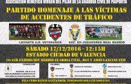 Colgados estará en el partido homenaje a las victimas de accidentes de tráfico