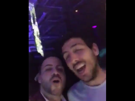 Dani Parejo drunk in a nightclub