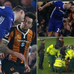 Hull player Ryan Mason, in serious condition after head injury