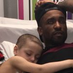 Jermain Defoe spent the night in a hospital with a sick child