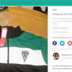 Córdoba player sells his official tracksuit by Wallapop