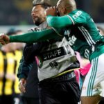Peñarol and Palmeiras just beaten in a pitched battle in a match of Copa Libertadores