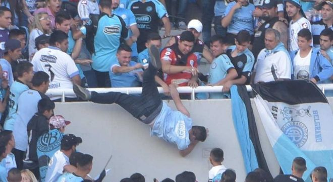 Belgrano dies swells who was thrown from the stands after recognizing the murderer of his brother
