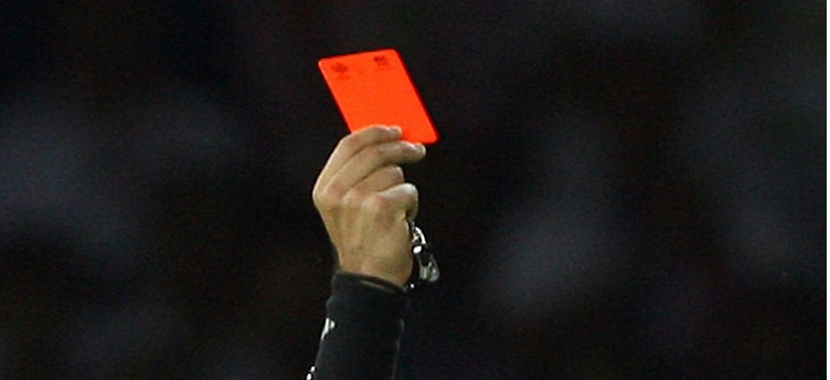 Football leagues with more red cards in Europe