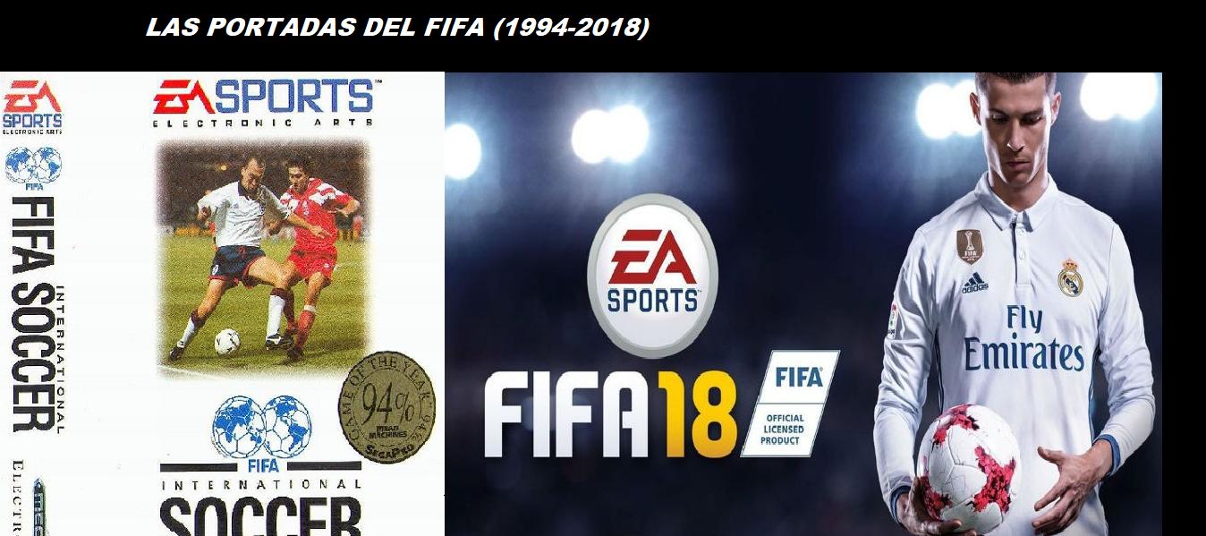 Todas las portadas del FIFA desde hace 24 años