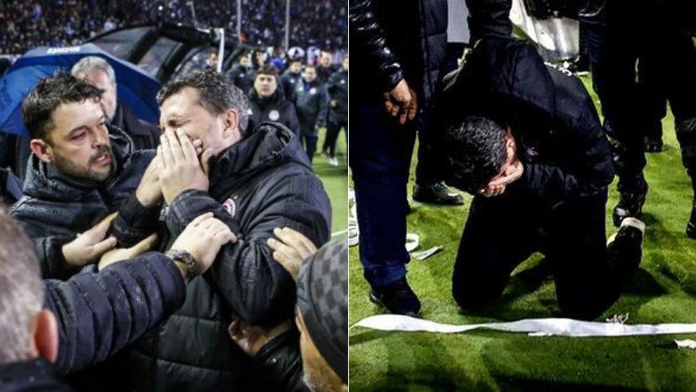 Oscar García, entrenador del Olympiakos, hospitalizado tras agresión en partido ante el PAOK