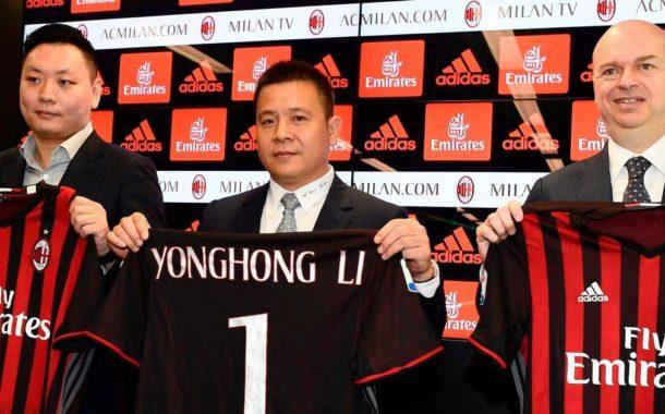 La empresa del presidente chino del AC Milan, en bancarrota