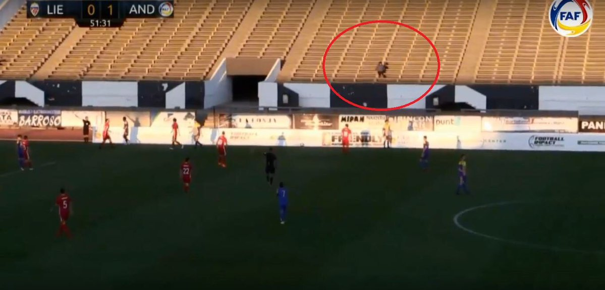 Andorra achieves the victory against Liechtenstein with ... A spectator in the stands!