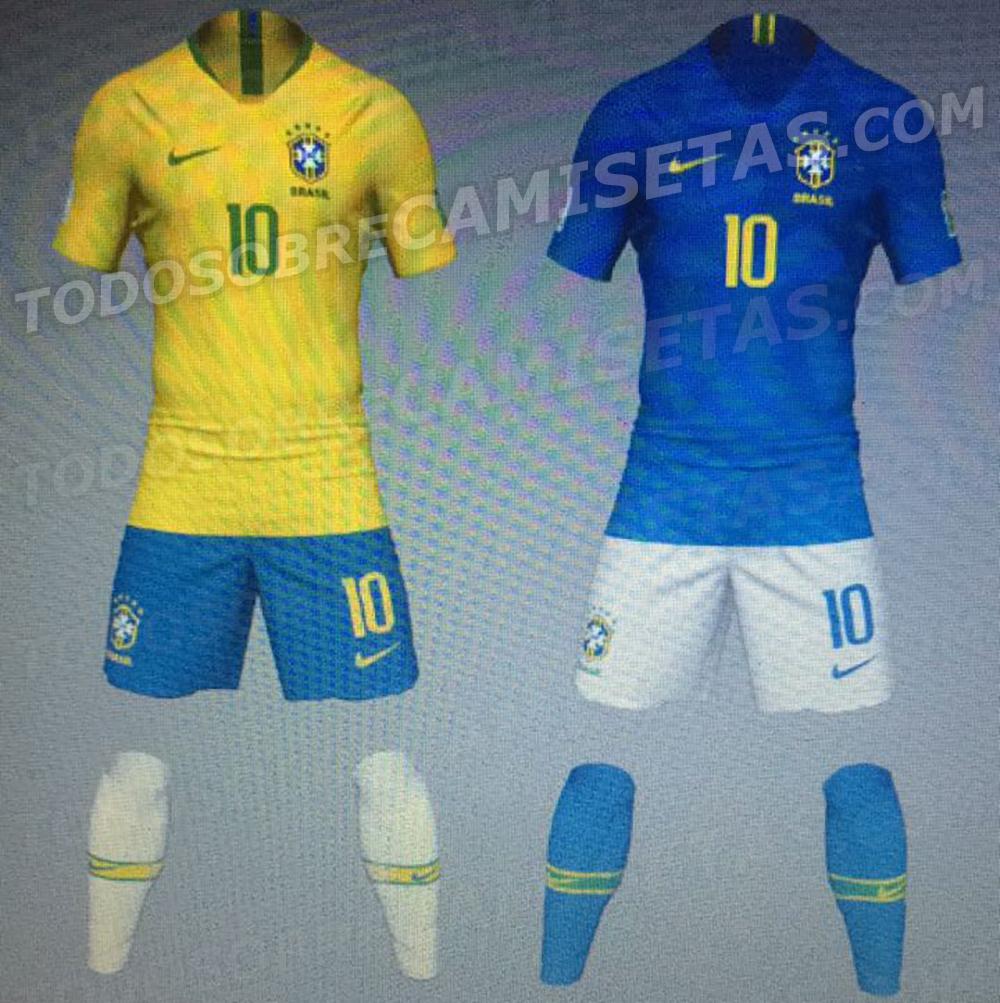 Así serán la primera y segunda equipación de Brasil en el próximo mundial  (Foto  todosobrecamisetas.com) 52999d0925c30