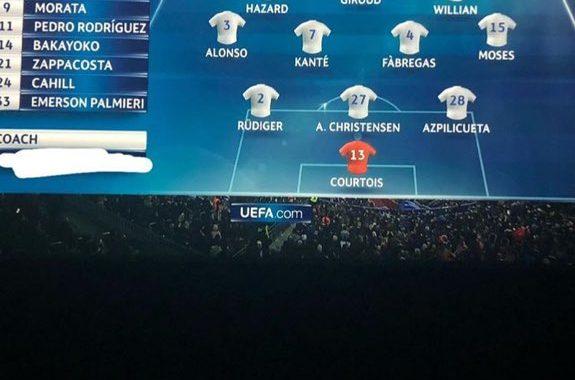 Diego Costa 'elimina' a Antonio Conte de la alineación del Chelsea