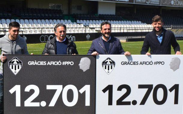 El CD Castellón supera el récord de abonados en Tercera División