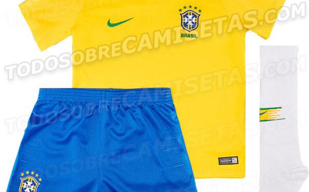 Se filtra la camiseta con la que Brasil jugará el próximo Mundial de Rusia 2018