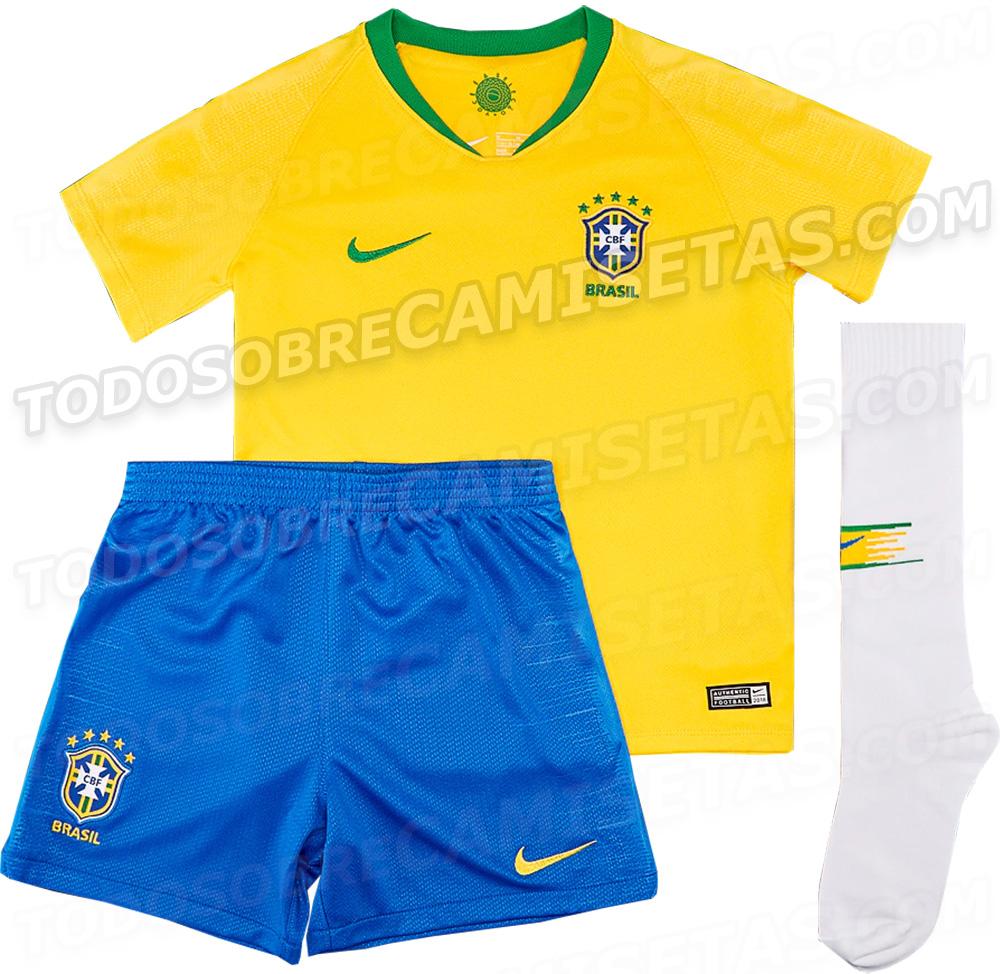 Se filtra la camiseta con la que Brasil jugará el próximo Mundial de Rusia  2018 61c62d89a6dec