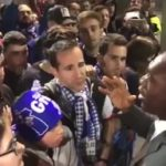 The Seedorf face to face with Depor fans after the match in Butarque
