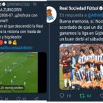 Athletic Club and Real Sociedad 'chop' in their official Twitter accounts