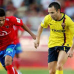 Numancia goodbye to Iniesta uploading a photo… little appropriate