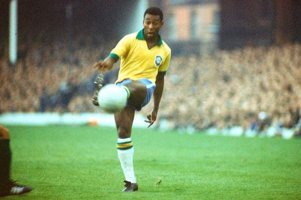 Pelé mit Brasilien