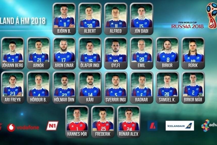 Islandia da a conocer sus 23 convocados para el Mundial de Rusia