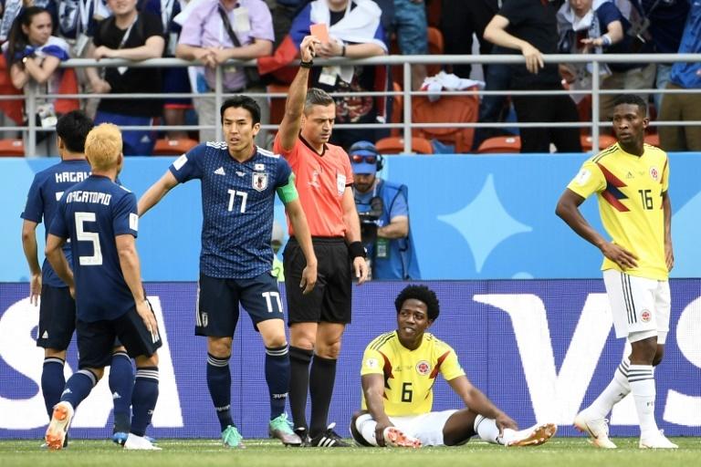 Por tercer Mundial seguido el primer expulsado fue un jugador sudamericano
