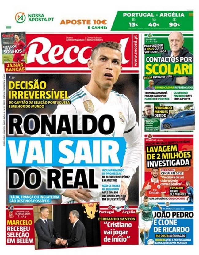 Cristiano Ronaldo se irá del Real Madrid