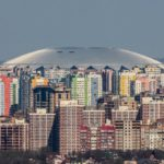 World Stadium Russia 2018 that looks like a UFO