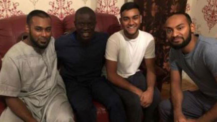 Kanté missed a train and ended up having dinner and playing at the home of FIFA fans