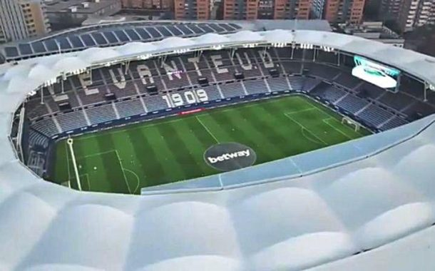 The dimensions of the stadiums in Spain
