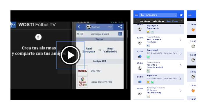 Wosti fútbol TV entre las mejores app de fútbol