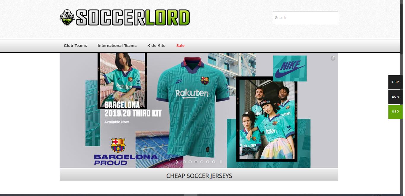Tiendas online de camisetas de fútbol