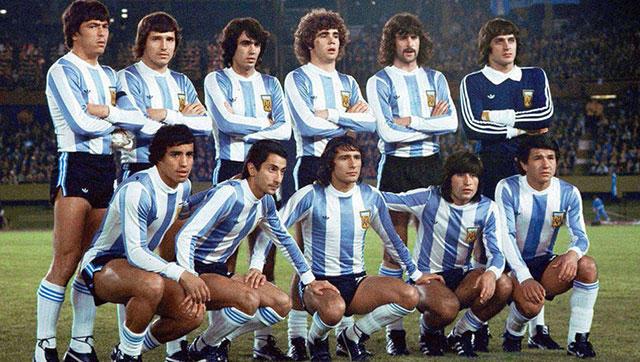 camiseta de argentina de finales de los 70
