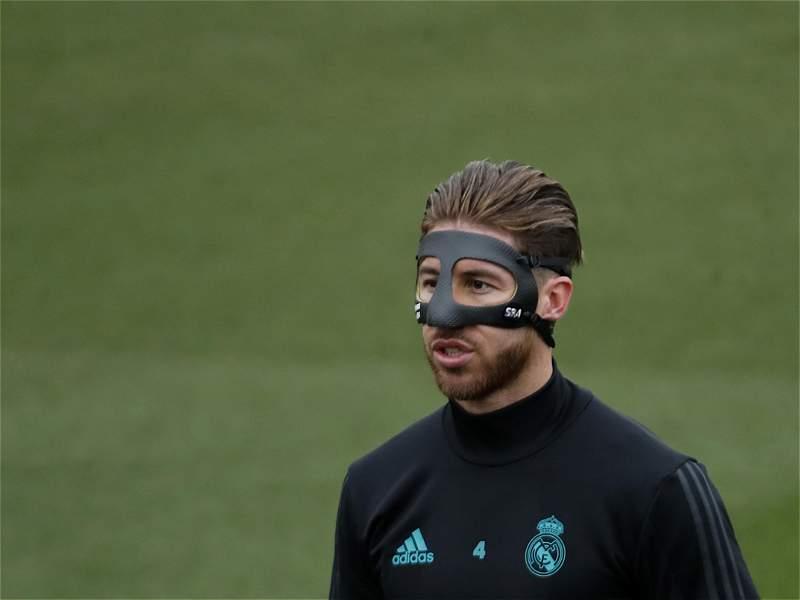 Sergio Ramos enmascarado