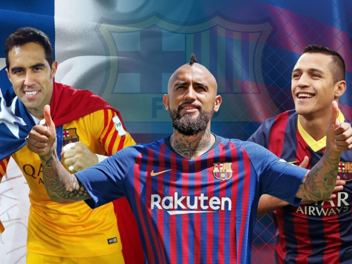 Die chilenischen Fußballer, die das Trikot des FC Barcelona getragen haben