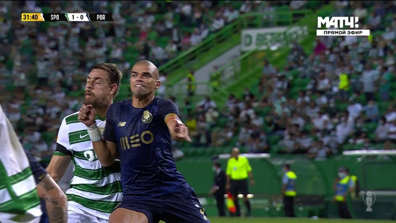 Pepe denunciado por dar un puñetazo en la mandíbula
