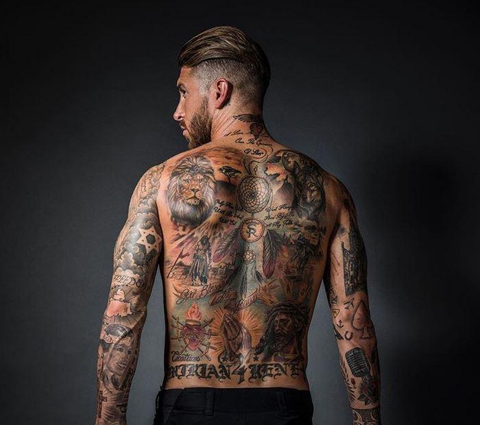 Sergio Ramos jugadores con más tatuajes
