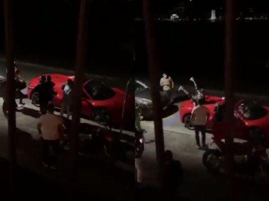 They hunt Arturo Vidal drunk on his Ferrari