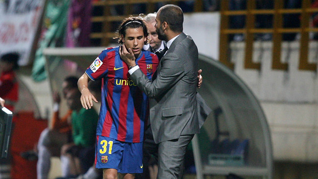 Gai Assulin with Guardiola on his debut.