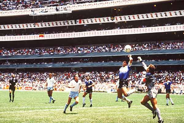 Maradona scored the hand of God